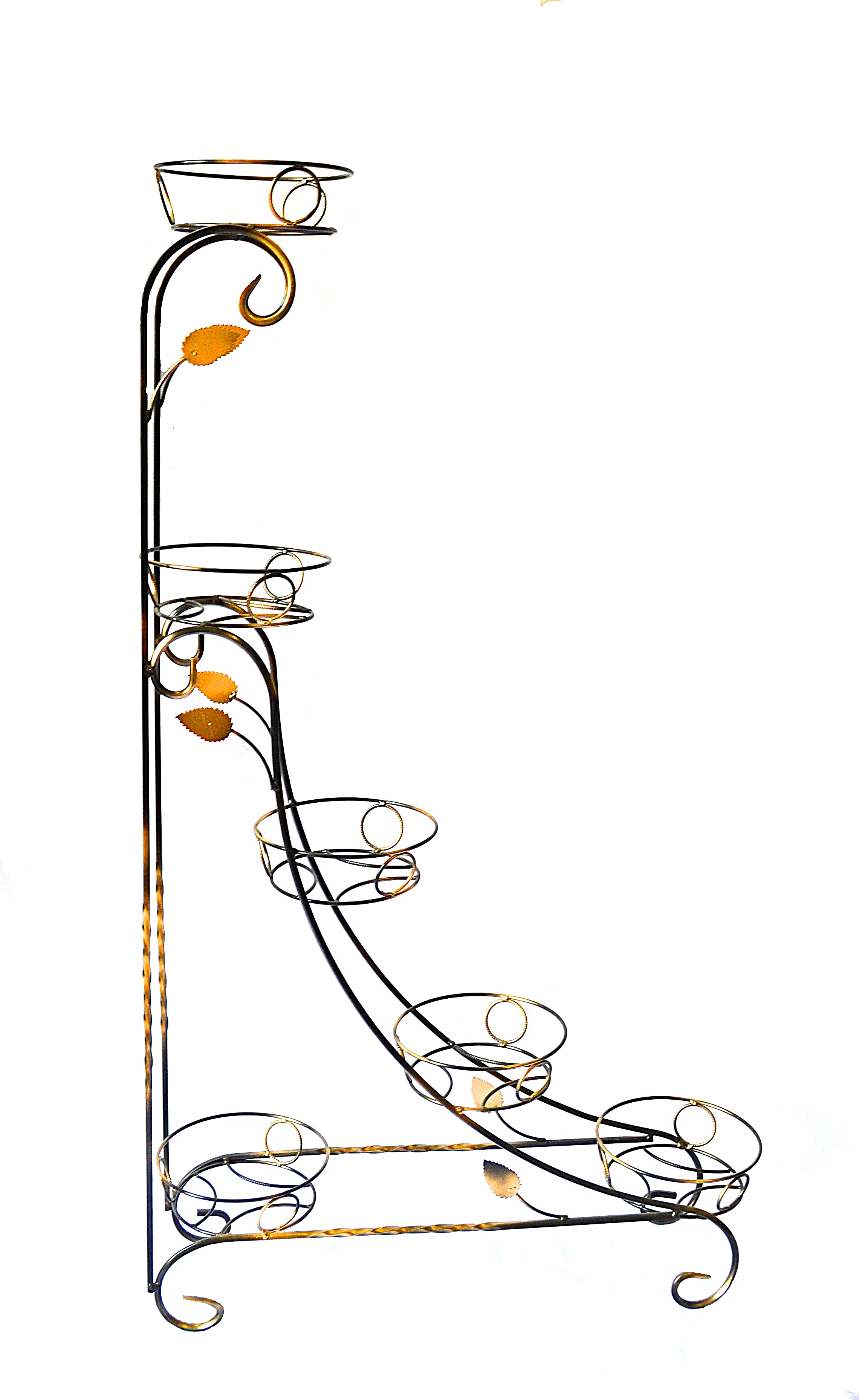 Чертежи и фото подставок для цветов из металла